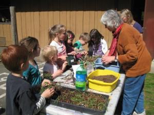 Earth Day activities at the Garden.